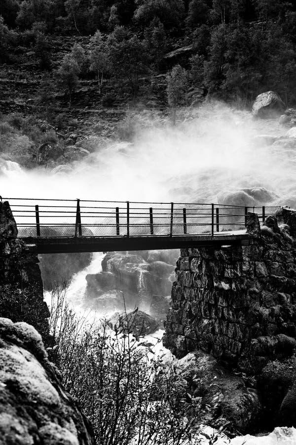 Download Bridge over waterfall stock photo. Image of nature, waterfall - 26391100