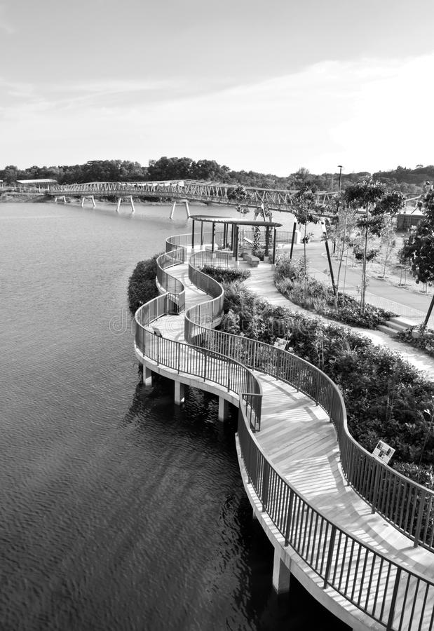 Bridge over Wetlands stock photography