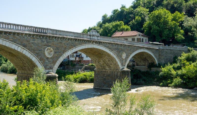 Bridge over the Yantra River in Veliko Tarnovo stock photography