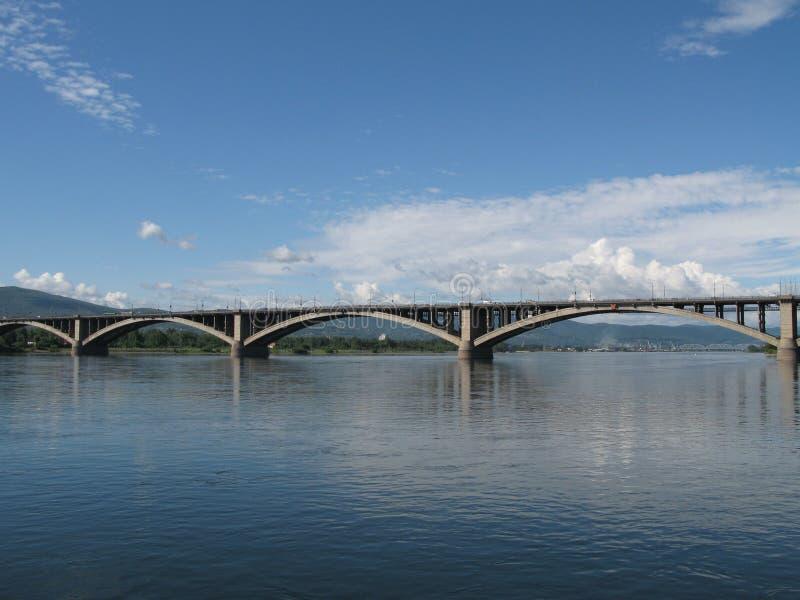 Download Bridge over Yenisei river stock image. Image of city, modern - 6244855