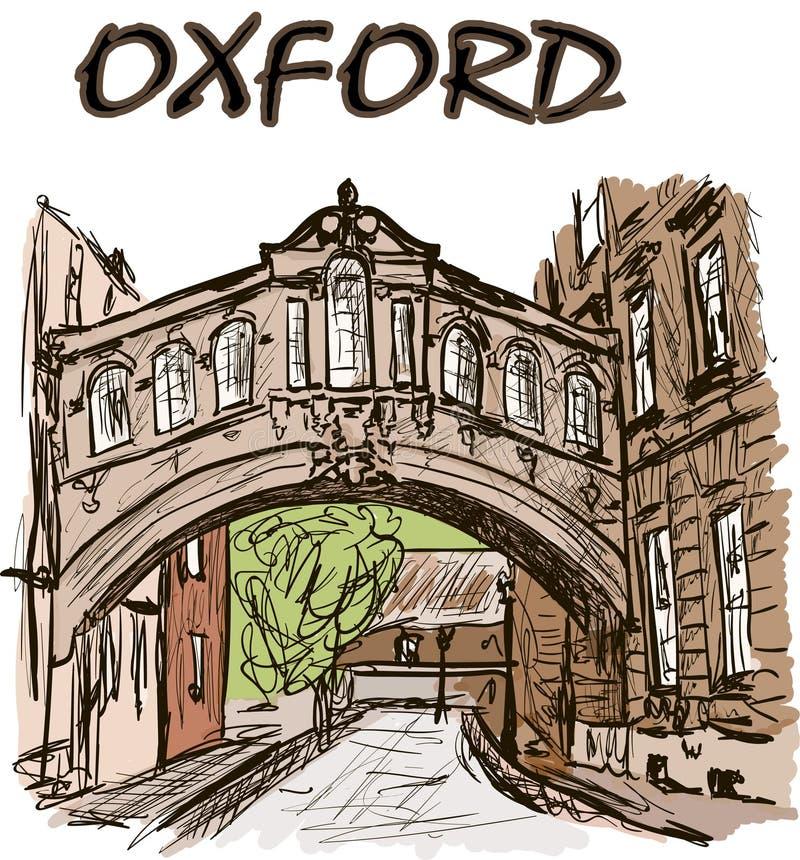 Bridge. A bridge in the oxford royalty free illustration