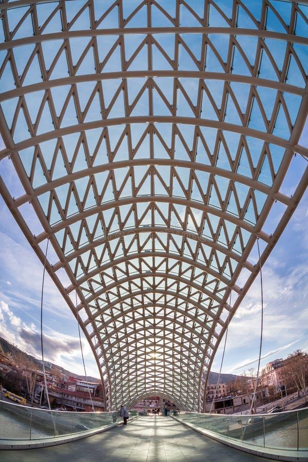 Download Bridge Of Peace Over The Kura River In Tbilisi Stock Image - Image: 25904779