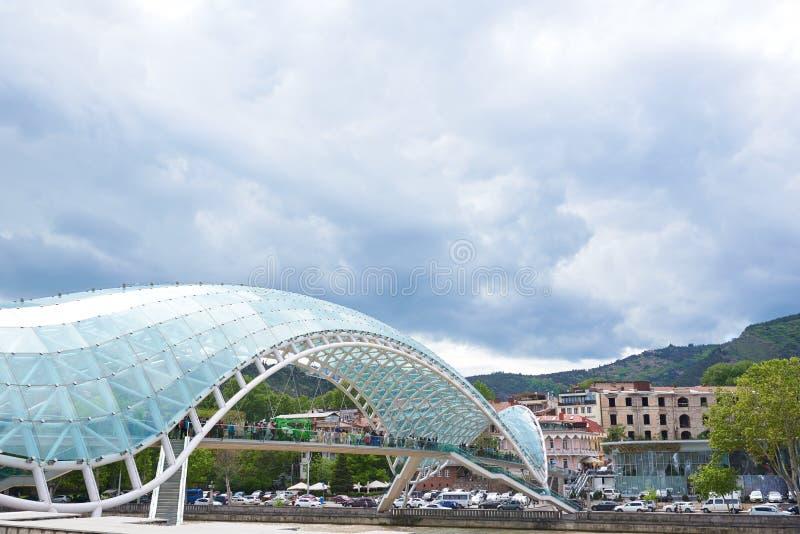 Bridge of Peace in Tbilisi stock images