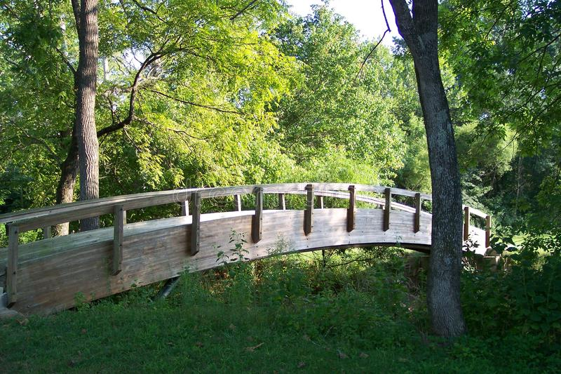 Download Bridge at Peaks View Park stock photo. Image of peaceful - 10924110