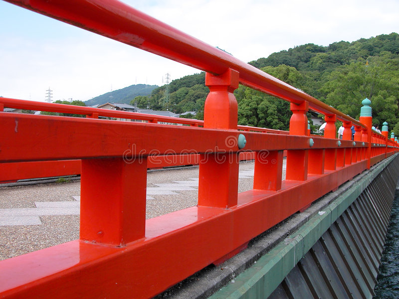 Bridge perspective royalty free stock photography