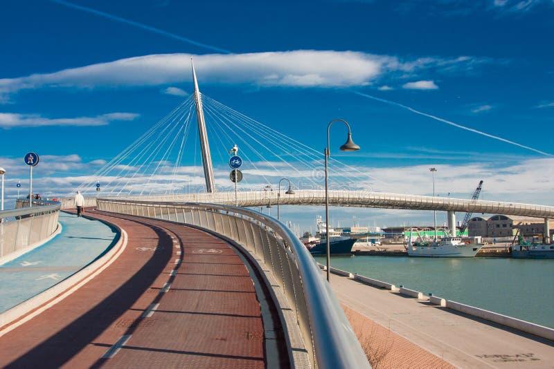 Bridge in Pescara stock photos