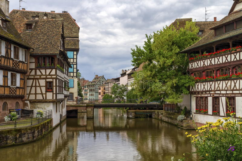 Bridge in Petite France, Strasbourg stock photos