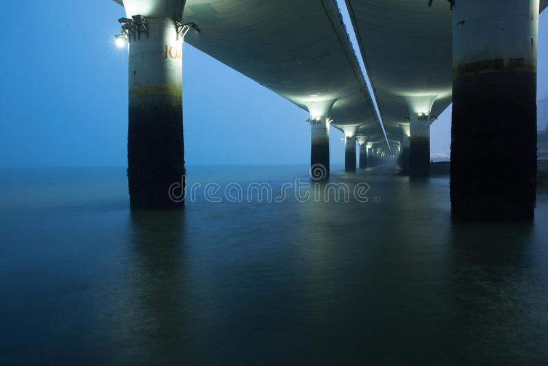 Bridge pier royalty free stock photos