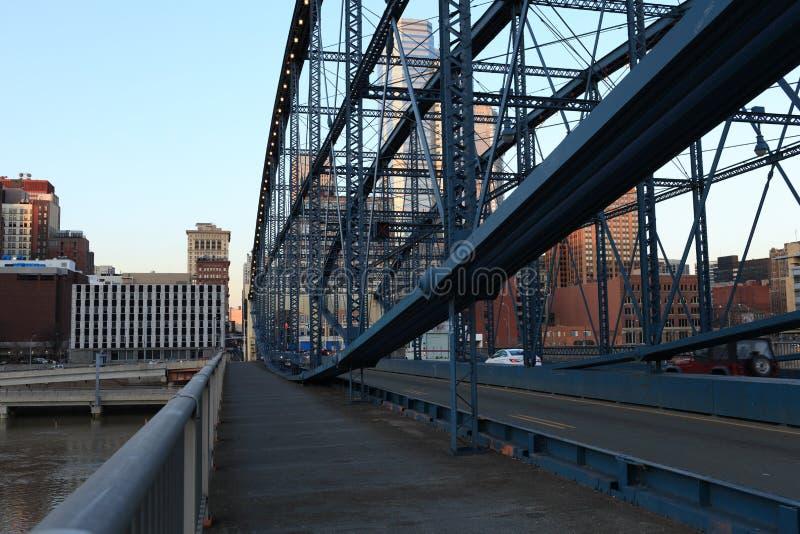 Bridge in Pittsburgh royalty free stock photo