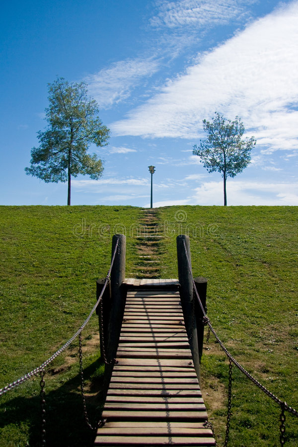 Download Bridge on a playground stock image. Image of positive - 5195053