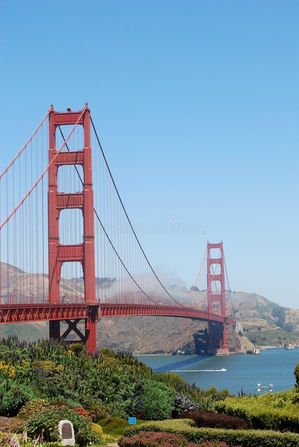bridge porten guld- USA arkivbilder