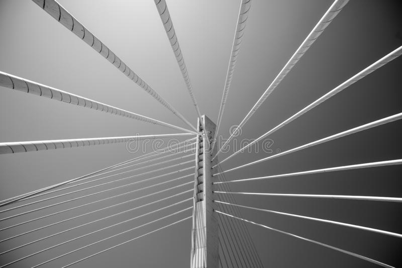 Bridge pylon geometry royalty free stock photo