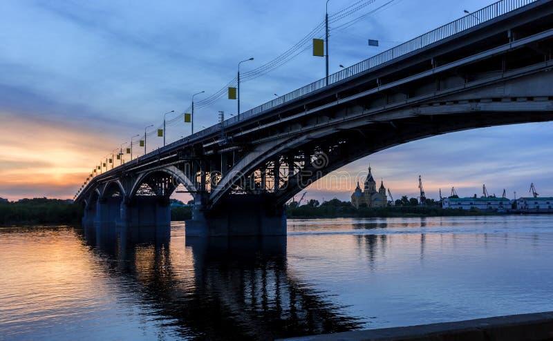 Bridge at a quiet night stock photo