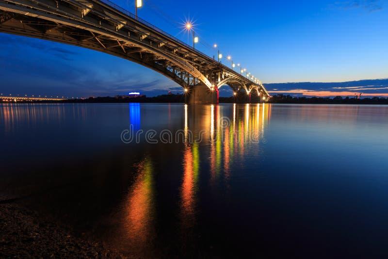 Bridge at a quiet night stock image