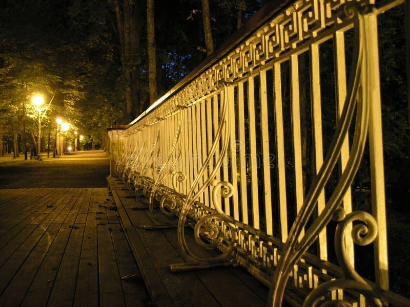 Download Bridge railing at night stock image. Image of park, dark - 33767