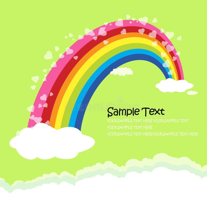 The Bridge of rainbow - love concept greeting card vector illustration