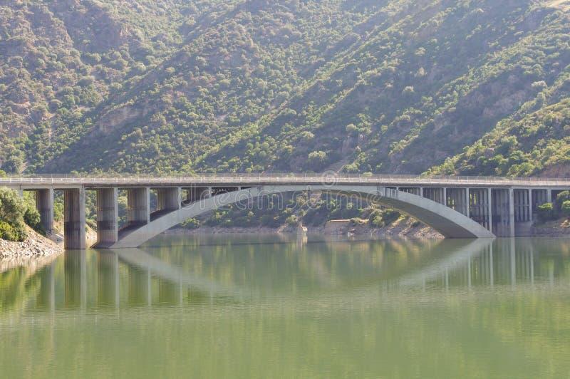 Bridge reflection royalty free stock photography