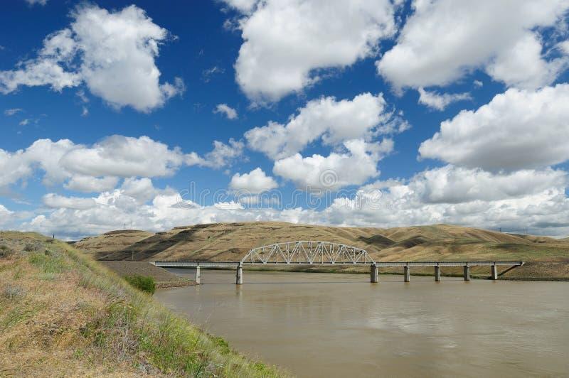 Bridge and river stock photo