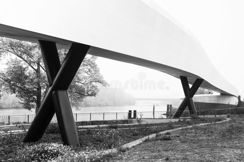 Bridge. At a river in Germany stock photo