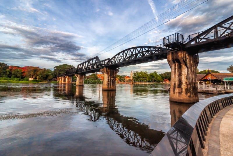 The Bridge on the River Kwai Kanchanaburi Thailand. The death railway bridge is a history of world war ii stock photo