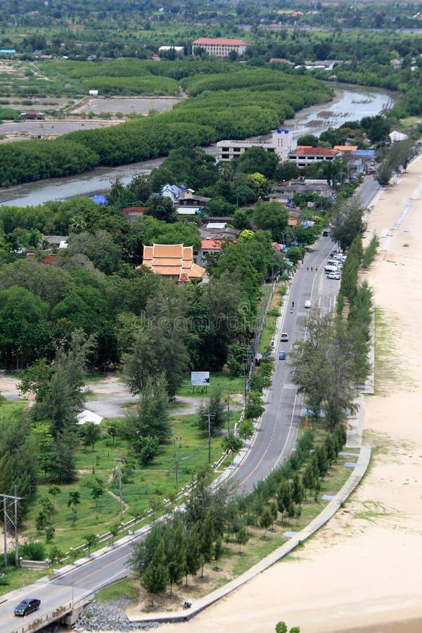 Bridge, road and village