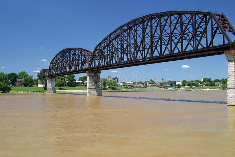 Download Bridge rzeki ohio wynosi 3 zdjęcie stock. Obraz złożonej z riverbed - 141410