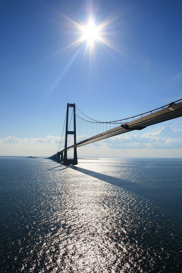 Bridge on the sea stock images