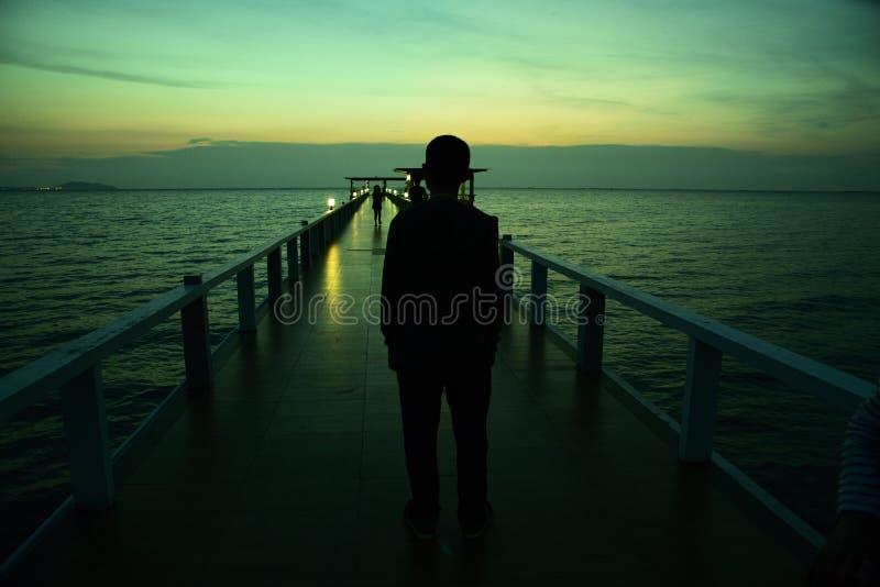 The bridge on sea royalty free stock photography