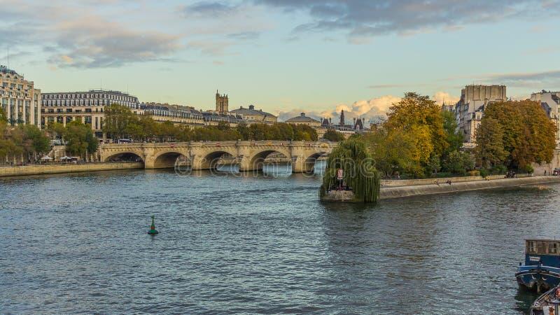 Bridge of sena river. Bridge of sena. Puente, bridge, tree, arbol, agua, whater, river stock photography