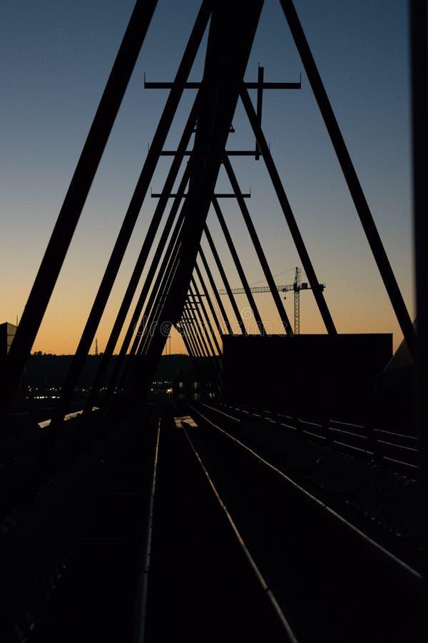 Bridge. Shadow bridge metal royalty free stock photo