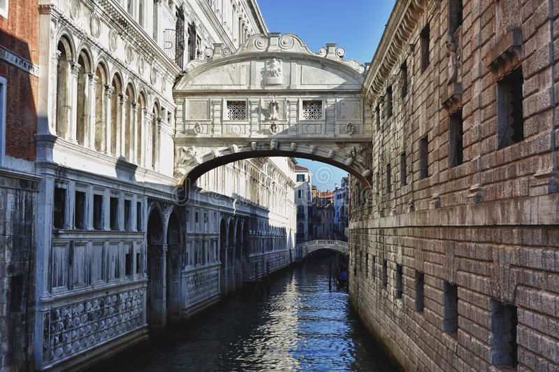 Download The Bridge Of Sighs stock image. Image of blue, building - 24583413