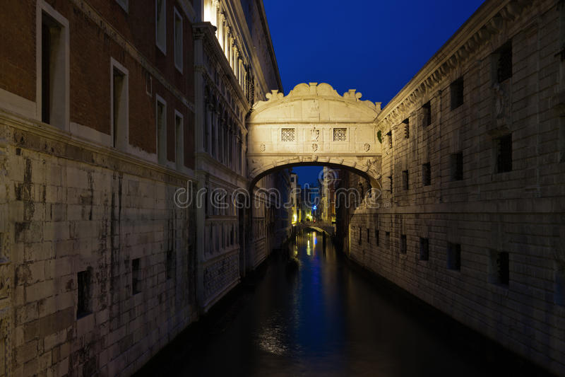 Download The Bridge Of Sighs At Night Stock Photo - Image: 29219920