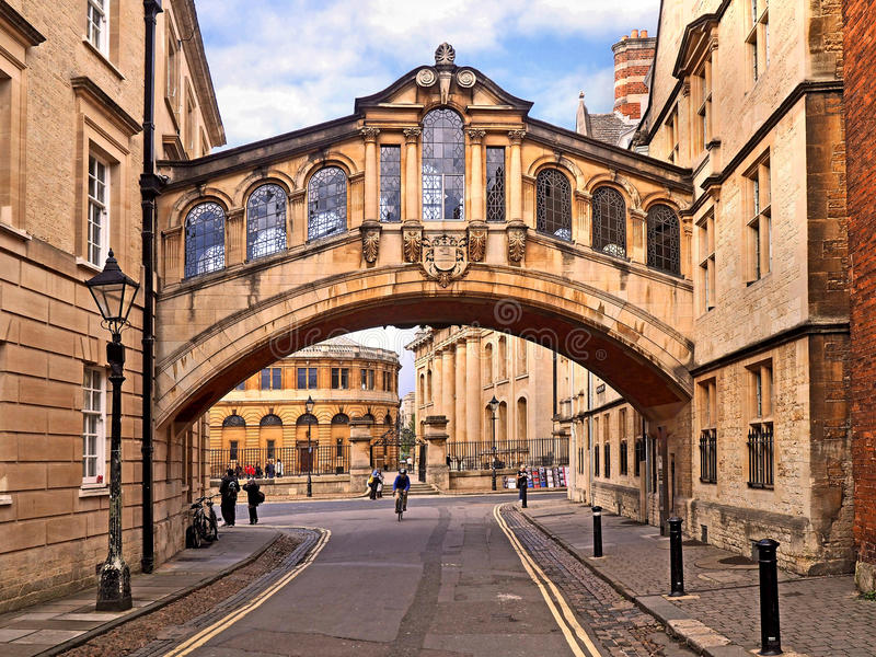 Bridge of Sighs, Oxford University stock photography