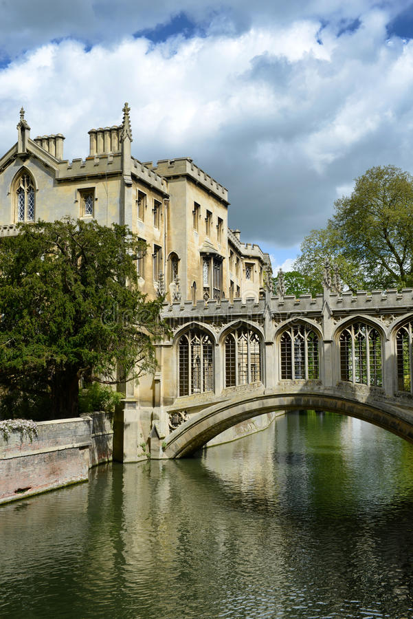 Bridge of Sighs, St Johns College, Cambridge. Designed by Henry Hutchinson to span the River Cam between the courts of the College stock images