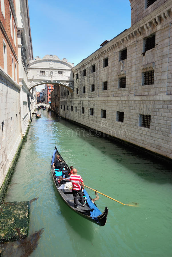 The Bridge of Sighs, Venice stock photography
