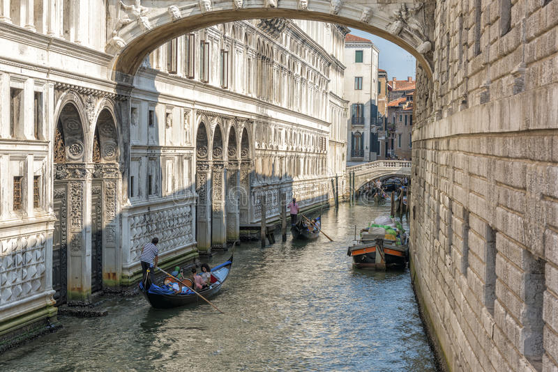 The Bridge of Sighs, Venice royalty free stock photography