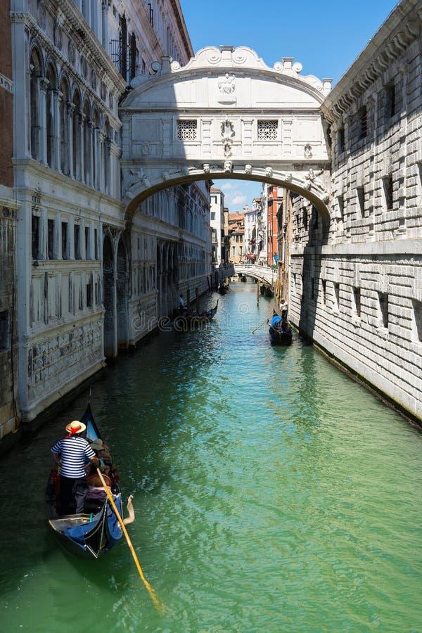 Bridge of Sighs in Venice stock image
