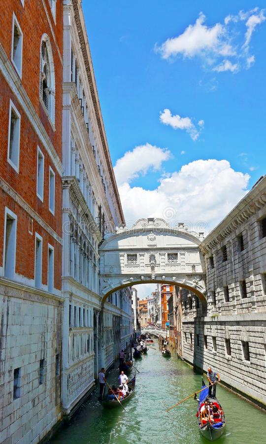 Bridge of Sighs in Venice royalty free stock image