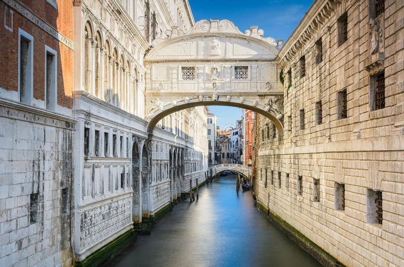 The Bridge of Sighs in Venice, Italy royalty free stock images