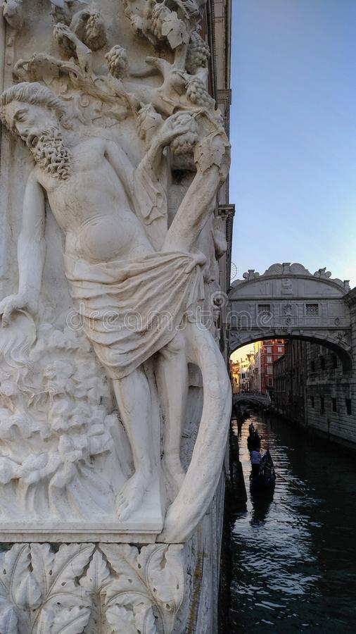 Bridge of sighs Venice stock images