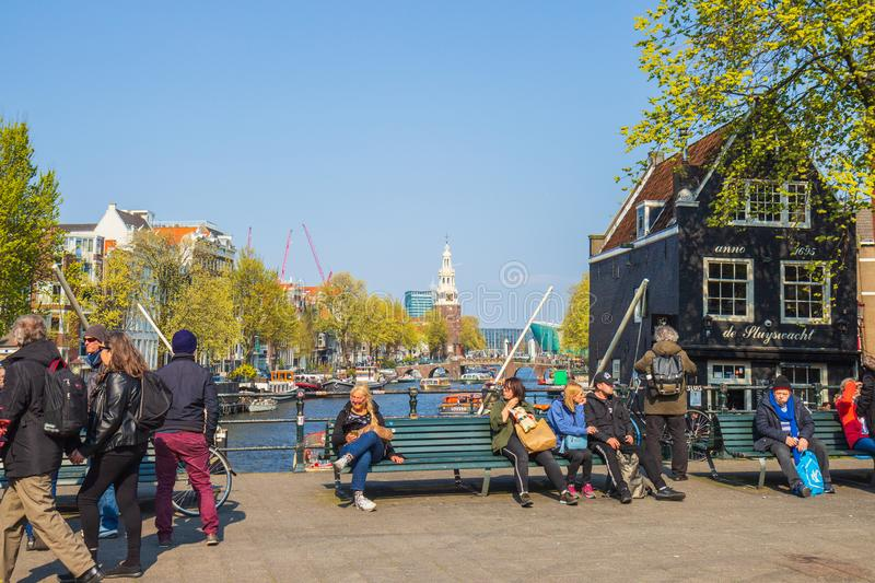 St. Teunis sluice in Amsterdam, the Netherlands royalty free stock photography