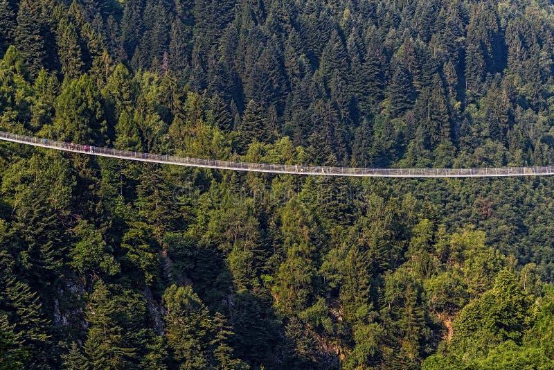 Bridge in the sky, Val Tartano, Italy royalty free stock photos