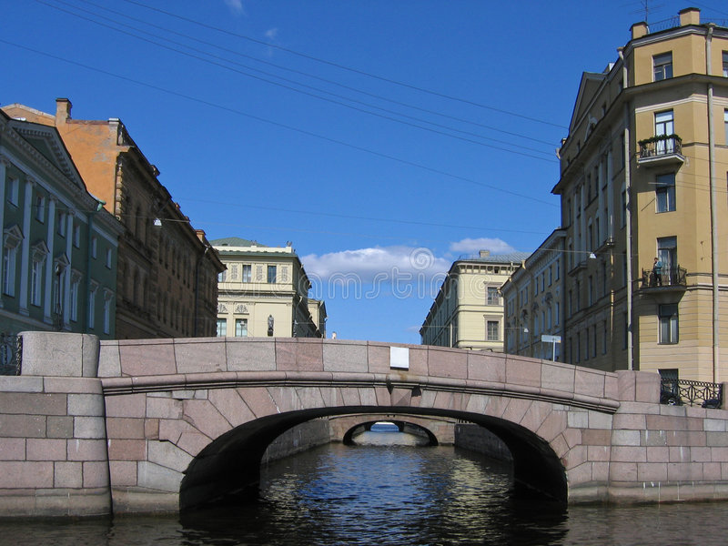 Bridge in St Petersburg. Russia royalty free stock photography