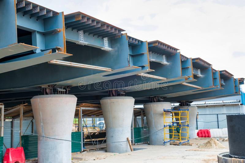 Bridge and road under construction royalty free stock photos