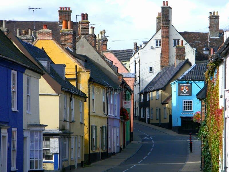 Bridge Street Bungay Suffolk Verenigd Koninkrijk stock foto
