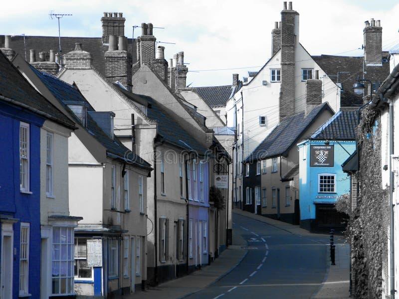 Bridge Street Bungay Suffolk Verenigd Koninkrijk royalty-vrije stock foto's