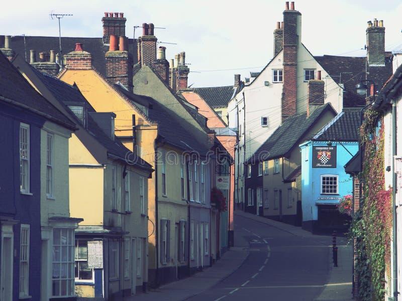 Bridge Street Bungay Suffolk Wielka Brytania zdjęcia royalty free