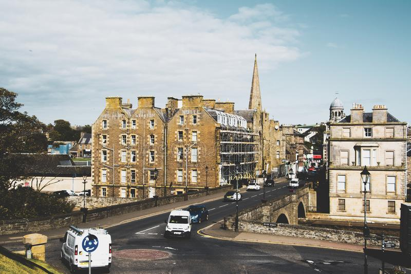 Bridge Street, Wick, Caithness, Escócia foto de stock royalty free