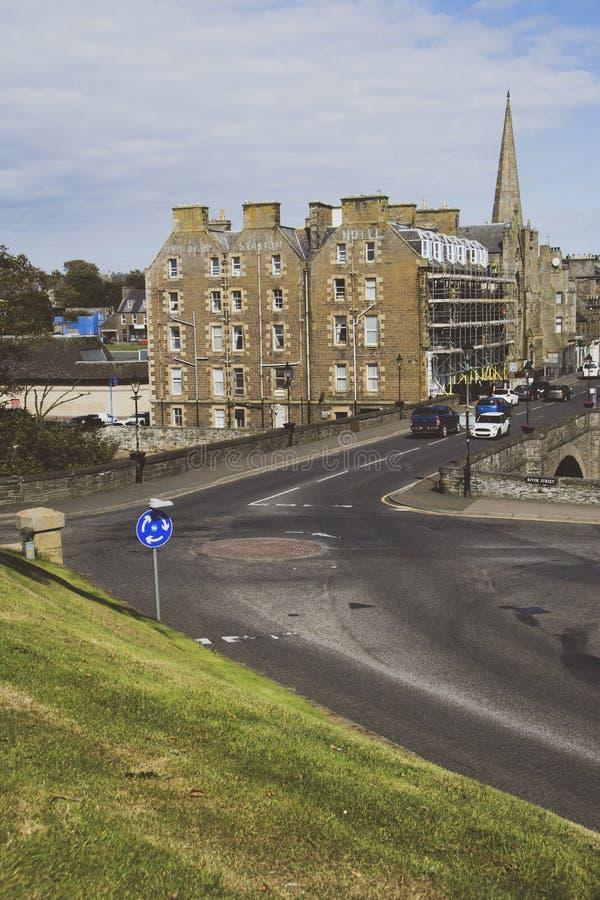Bridge Street, Wick, Caithness, Escócia, Reino Unido imagens de stock royalty free