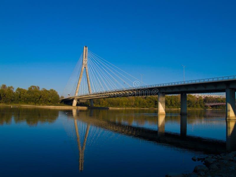 Bridge Swietokrzyski, Warsaw , Poland Royalty Free Stock Photography